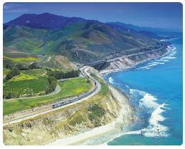 itinerario Coast Starlight treno USA